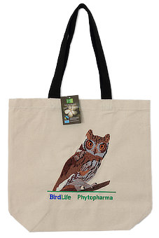 Baumwoll Shopper Fairtrade Eule - Reinerlös BirdLife